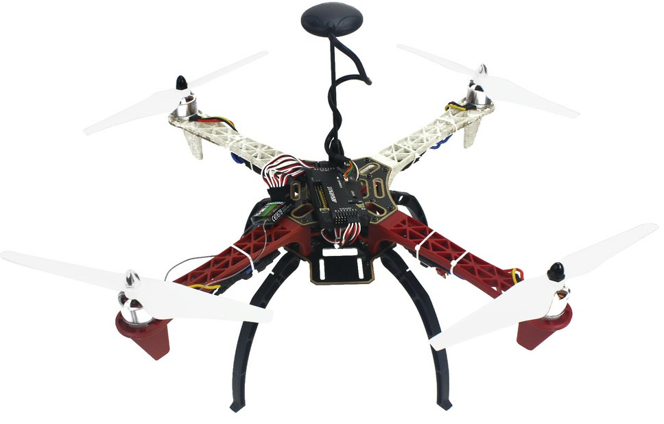 HJ 450 450F 4-Aix RFT Full Kit with APM 2.8 Flight Controller GP