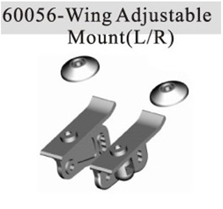 HSP 60056 Wing Adjustable Mount (L/R) For 1/8th